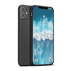 Custodia Silicone Ultra Sottile Morbida 360 Gradi Cover per Apple iPhone 12 Max Nero