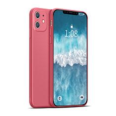 Custodia Silicone Ultra Sottile Morbida 360 Gradi Cover per Apple iPhone 12 Max Rosso
