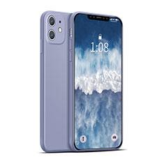 Custodia Silicone Ultra Sottile Morbida 360 Gradi Cover per Apple iPhone 12 Max Viola