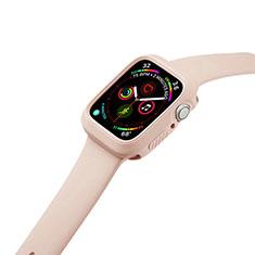 Custodia Silicone Ultra Sottile Morbida 360 Gradi Cover per Apple iWatch 5 44mm Arancione