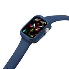 Custodia Silicone Ultra Sottile Morbida 360 Gradi Cover per Apple iWatch 5 44mm Blu