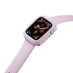Custodia Silicone Ultra Sottile Morbida 360 Gradi Cover per Apple iWatch 5 44mm Rosa