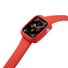 Custodia Silicone Ultra Sottile Morbida 360 Gradi Cover per Apple iWatch 5 44mm Rosso