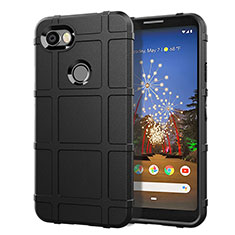 Custodia Silicone Ultra Sottile Morbida 360 Gradi Cover per Google Pixel 3a Nero