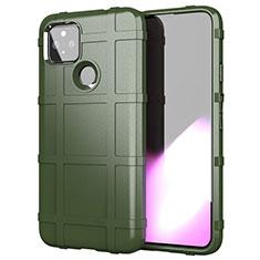Custodia Silicone Ultra Sottile Morbida 360 Gradi Cover per Google Pixel 4a 5G Verde Militare