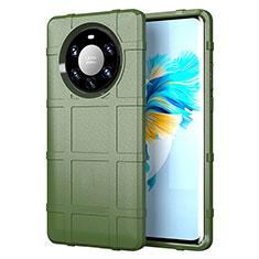 Custodia Silicone Ultra Sottile Morbida 360 Gradi Cover per Huawei Mate 40 Pro+ Plus Verde Militare