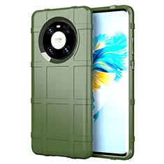 Custodia Silicone Ultra Sottile Morbida 360 Gradi Cover per Huawei Mate 40 Verde Militare