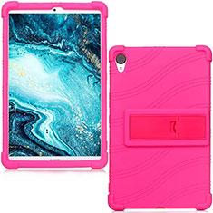 Custodia Silicone Ultra Sottile Morbida 360 Gradi Cover per Huawei MediaPad M6 8.4 Rosa Caldo
