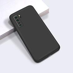 Custodia Silicone Ultra Sottile Morbida 360 Gradi Cover per Huawei Nova 7 SE 5G Nero