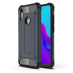 Custodia Silicone Ultra Sottile Morbida 360 Gradi Cover per Huawei Y6 Prime (2019) Blu