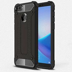Custodia Silicone Ultra Sottile Morbida 360 Gradi Cover per Huawei Y9 (2018) Nero