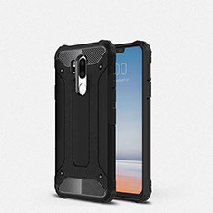 Custodia Silicone Ultra Sottile Morbida 360 Gradi Cover per LG G7 Nero