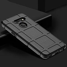 Custodia Silicone Ultra Sottile Morbida 360 Gradi Cover per LG G8 ThinQ Nero