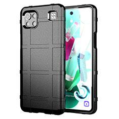 Custodia Silicone Ultra Sottile Morbida 360 Gradi Cover per LG K92 5G Nero