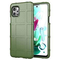 Custodia Silicone Ultra Sottile Morbida 360 Gradi Cover per LG Q92 5G Verde