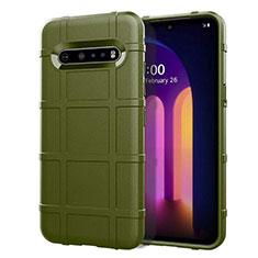 Custodia Silicone Ultra Sottile Morbida 360 Gradi Cover per LG V60 ThinQ 5G Verde