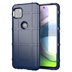 Custodia Silicone Ultra Sottile Morbida 360 Gradi Cover per Motorola Moto G 5G Blu