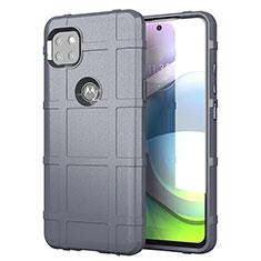 Custodia Silicone Ultra Sottile Morbida 360 Gradi Cover per Motorola Moto G 5G Grigio