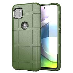 Custodia Silicone Ultra Sottile Morbida 360 Gradi Cover per Motorola Moto G 5G Verde Militare