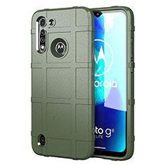 Custodia Silicone Ultra Sottile Morbida 360 Gradi Cover per Motorola Moto G8 Power Lite Verde