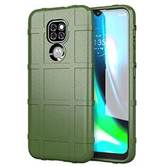 Custodia Silicone Ultra Sottile Morbida 360 Gradi Cover per Motorola Moto G9 Play Verde