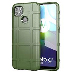 Custodia Silicone Ultra Sottile Morbida 360 Gradi Cover per Motorola Moto G9 Power Verde Militare