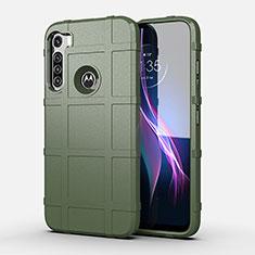 Custodia Silicone Ultra Sottile Morbida 360 Gradi Cover per Motorola Moto One Fusion Plus Verde