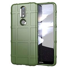 Custodia Silicone Ultra Sottile Morbida 360 Gradi Cover per Nokia 2.4 Verde Militare