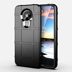Custodia Silicone Ultra Sottile Morbida 360 Gradi Cover per Nokia 5.3 Nero