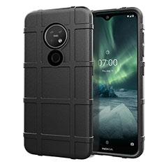 Custodia Silicone Ultra Sottile Morbida 360 Gradi Cover per Nokia 6.2 Nero