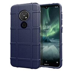 Custodia Silicone Ultra Sottile Morbida 360 Gradi Cover per Nokia 7.2 Blu