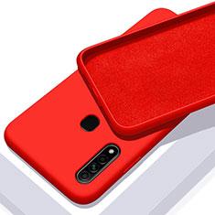 Custodia Silicone Ultra Sottile Morbida 360 Gradi Cover per Oppo A31 Rosso