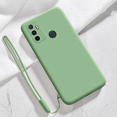 Custodia Silicone Ultra Sottile Morbida 360 Gradi Cover per Oppo A53s Verde