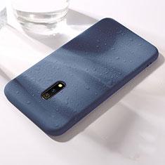Custodia Silicone Ultra Sottile Morbida 360 Gradi Cover per Oppo Realme X Blu