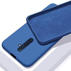Custodia Silicone Ultra Sottile Morbida 360 Gradi Cover per Oppo Reno2 Z Blu