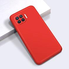 Custodia Silicone Ultra Sottile Morbida 360 Gradi Cover per Oppo Reno4 F Rosso