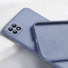 Custodia Silicone Ultra Sottile Morbida 360 Gradi Cover per Oppo Reno4 SE 5G Grigio Lavanda