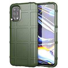 Custodia Silicone Ultra Sottile Morbida 360 Gradi Cover per Realme 7 Pro Verde Militare