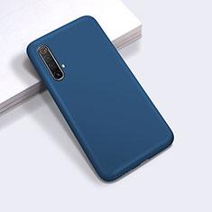 Custodia Silicone Ultra Sottile Morbida 360 Gradi Cover per Realme X50m 5G Blu