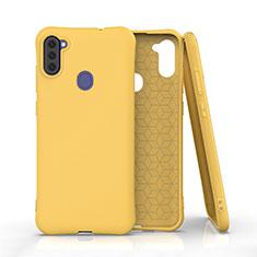 Custodia Silicone Ultra Sottile Morbida 360 Gradi Cover per Samsung Galaxy A11 Giallo