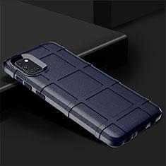 Custodia Silicone Ultra Sottile Morbida 360 Gradi Cover per Samsung Galaxy A31 Blu