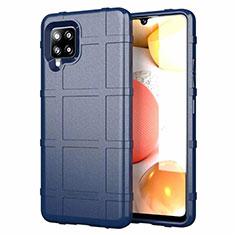 Custodia Silicone Ultra Sottile Morbida 360 Gradi Cover per Samsung Galaxy A42 5G Blu
