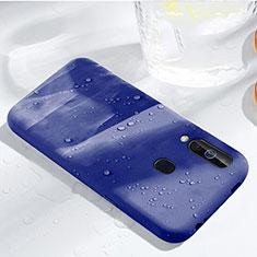 Custodia Silicone Ultra Sottile Morbida 360 Gradi Cover per Samsung Galaxy A60 Blu