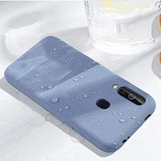 Custodia Silicone Ultra Sottile Morbida 360 Gradi Cover per Samsung Galaxy A60 Cielo Blu