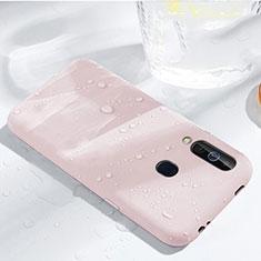 Custodia Silicone Ultra Sottile Morbida 360 Gradi Cover per Samsung Galaxy A60 Oro Rosa
