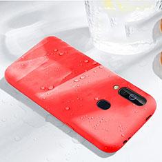 Custodia Silicone Ultra Sottile Morbida 360 Gradi Cover per Samsung Galaxy A60 Rosso