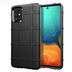 Custodia Silicone Ultra Sottile Morbida 360 Gradi Cover per Samsung Galaxy A71 5G Nero