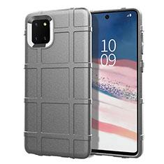 Custodia Silicone Ultra Sottile Morbida 360 Gradi Cover per Samsung Galaxy A81 Argento