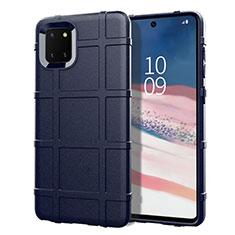 Custodia Silicone Ultra Sottile Morbida 360 Gradi Cover per Samsung Galaxy A81 Blu