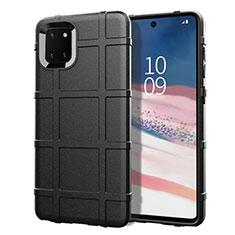 Custodia Silicone Ultra Sottile Morbida 360 Gradi Cover per Samsung Galaxy A81 Nero